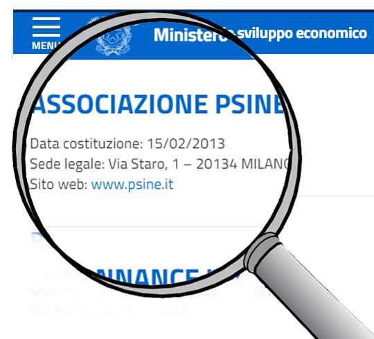Psine nell'elenco ministeriale delle professioni non organizzate in ordini o collegi