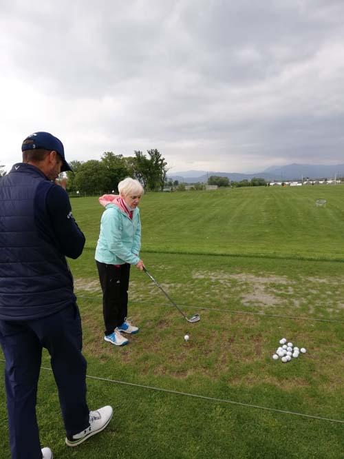 Psine alle prese con il golf… O il golf alle prese con Psine?